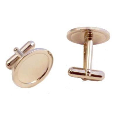 Cufflink Pair Round 16mm silver